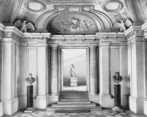 Ф. Мансар. Дворец Мезон-Лаффит близ Парижа. 1642—50. Вестибюль. Классицизм.
