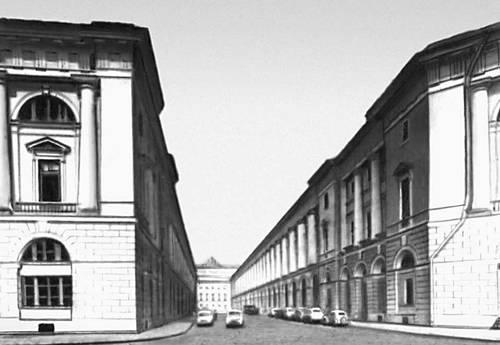 Классицизм И. Росси. Театральная улица (ныне улица зодчего Росси) в Ленинграде. 1828—34.