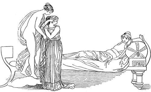 Дж. Флаксмен. Иллюстрация к «Илиаде» (гравюра Т. Пироли). 1793. Классицизм.
