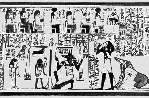 Фрагмент египетского папирусного свитка «Книга мёртвых». 1400 до н. э. Книга.