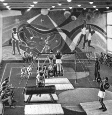Спортивный зал в колхозе «Кубань» Усть-Лабинского р-на Краснодарского края. Колхозы.