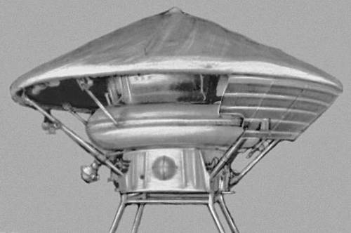 Спускаемый аппарат автоматической межпланетной станции «Марс-3». Космонавтика.