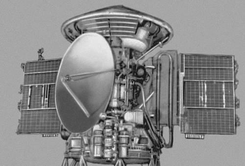 Общий вид автоматической межпланетной станции «Марс 3». Космонавтика.