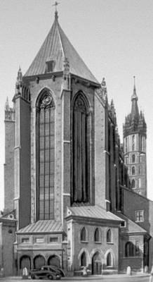 Алтарная часть костёла Девы Марии. Ок. 1360. Краков.