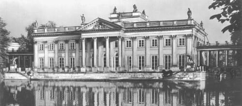 Лазенки. Королевский дворец. 1784—1795. Архитектор Д. Мерлини. Северный фасад. Лазенки.