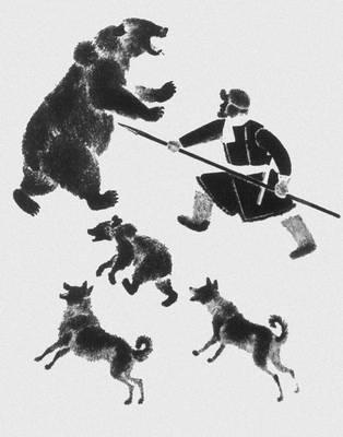 В. В. Лебедев. Лист из книги «Охота». Литография. 1925. Лебедев Владимир Васильевич.