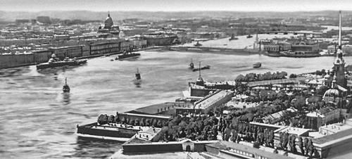Ленинград. Вид на Неву в центре города. Ленинград.