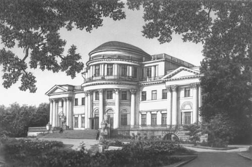 Ленинград. Елагин дворец. 1818—22. Архитектор К. И. Росси. Ленинград.