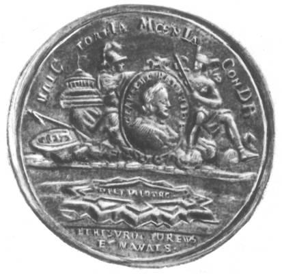 Медаль в честь основания Петербурга 16 мая 1703. Бронза. Ленинград.