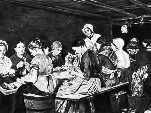 М. Либерман. «Консервщицы». 1879. Музей изобразительных искусств. Лейпциг. Либерман Макс.