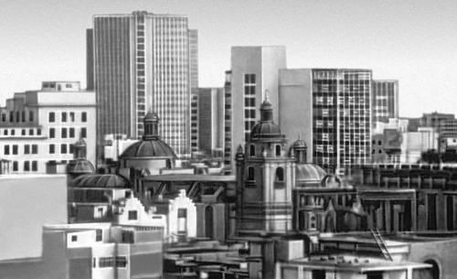 Лима. Общий вид центральной части города. Лима (столица Перу).