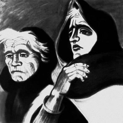 М. Лингнер. «Две войны — две вдовы». Темпера. 1946. Национальная галерея. Берлин. Лингнер Макс.