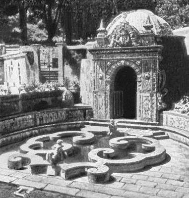 Лисабон. Бассейн в парке при дворце Фронтейра. 2-я пол. 17 в. Лисабон.