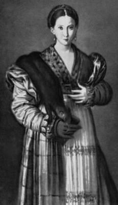 Пармиджанино. Женский портрет (т. н. «Антея»). 1535—37. Национальные музеи и галереи Каподимонте. Неаполь. Маньеризм.