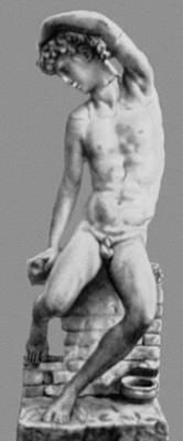 Б. Челлини. «Нарцисс». Мрамор. 1540-е гг. Национальный музей. Флоренция. Маньеризм.