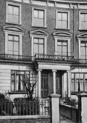 Дом в Лондоне, где жил К. Маркс с 1875. Маркс Карл.