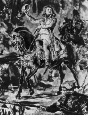«Костюшко под Рацлавицами». 1888. Национальный музей. Краков. Фрагмент. Матейко Ян.