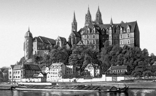 Мейсен. Собор Санкт-Йоханнес-унд-Донатус (середина 13—15 вв.) и замок Альбрехтсбург (1471—85). Мейсен.