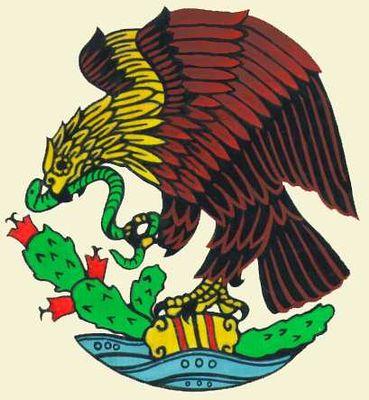 Государственный герб Мексики. Мексика.