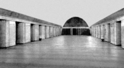 Станция метрополитена «Парк Победы» в Ленинграде. 1961. Архитектор А. К. Андреев, инженер Л. В. Фролов. Метрополитен.