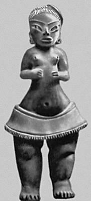Мифология. Женская фигурка — символ плодородия. Из Тлатилько. Архаическая культура. 1500—1000 до н. э. Национальный музей антропологии. Мехико. Мифология.