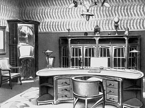 Х. К. ван де Велде. Кабинет. 1906. «Модерн».