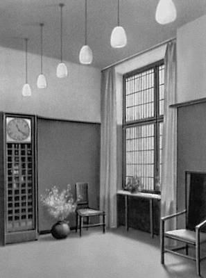 Ч. Р. Макинтош. Столовая на выставке в Берлине. 1906. «Модерн».