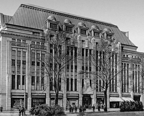 Й. М. Ольбрих. Универсальный магазин «Тиц» в Дюссельдорфе. 1908. «Модерн».