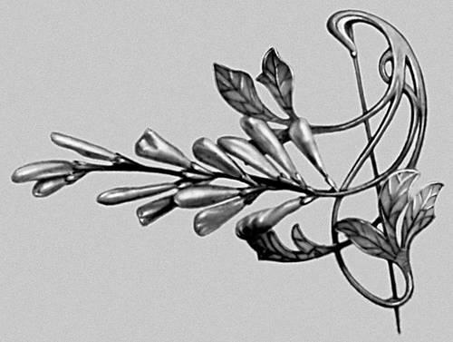 Р. Лалик. Брошь. Серебро, жемчуг. Около 1900. Художественно-промышленный музей города Цюриха. «Модерн».