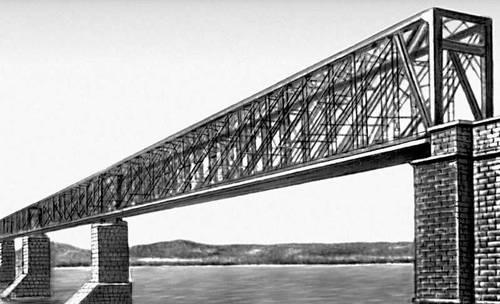 Мост через р. Волгу у Сызрани. 1879. Мост (сооружение).