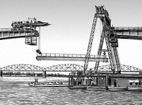 Рис. 7. Монтаж (замыкание пролёта) рамного моста. Мост (сооружение).