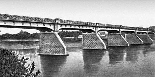 Мост через р. Дон в г. Лебедяни. 1910. Мост (сооружение).