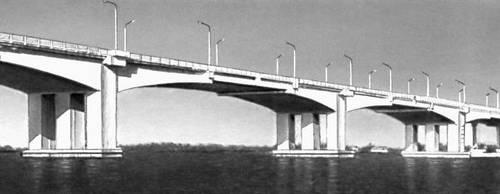 Мост через р. Днепр у Днепропетровска. 1966. Мост (сооружение).