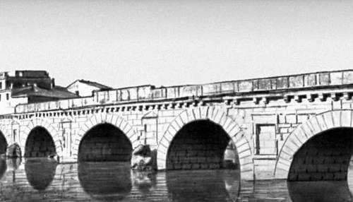 Мост Тиберия в Римини (Италия). 14—21 гг. Мост (сооружение).