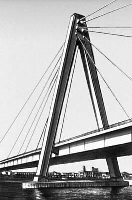 Пилон Северинского моста через р. Рейн (ФРГ). 1960. Мост (сооружение).