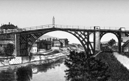 Мост через р. Северн в Колбрукдейле (Англия). 1779. Мост (сооружение).