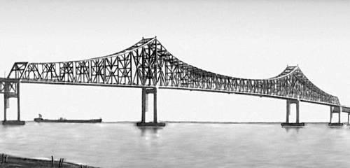 Мост через р. Делавэр в Честере (США). 1972. Мост (сооружение).