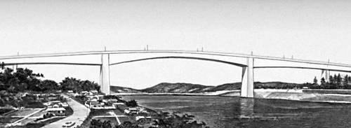 Мост через пролив Урато (Япония). 1972. Мост (сооружение).