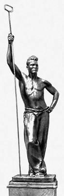 Г. И. Мотовилов. «Металлург». Бронза. 1936. Третьяковская галерея. Москва. Мотовилов Георгий Иванович.