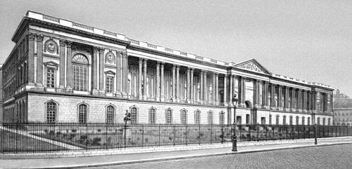 К. Перро. Лувр в Париже. Франция. 1667—74. Восточный фасад. Музеи.