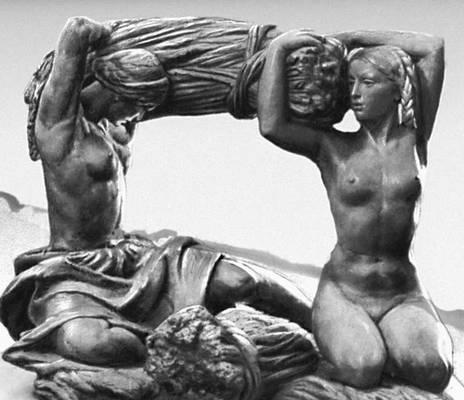 Мухина В. И. «Хлеб». Бронза. 1939. Третьяковская галерея. Москва. Мухина Вера Игнатьевна.
