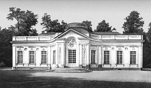 Дворец Амалиенбург в Нимфенбургском парке. 1734—39. Архитектор Ф. Кювилье. Мюнхен.