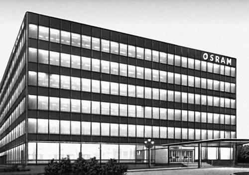 Административное здание предприятия электроламповой промышленности «Осрам». 1964—65. Архиткторы В. Хенн, Д. Штрёбель. Мюнхен.