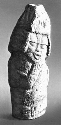Каменная статуя. Древний период. Национальный музей Никарагуа. Манагуа. Никарагуа (государство в Центр. Америке).