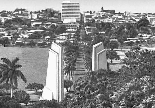 Вид части города Манагуа (до землетрясения 1972). Никарагуа (государство в Центр. Америке).