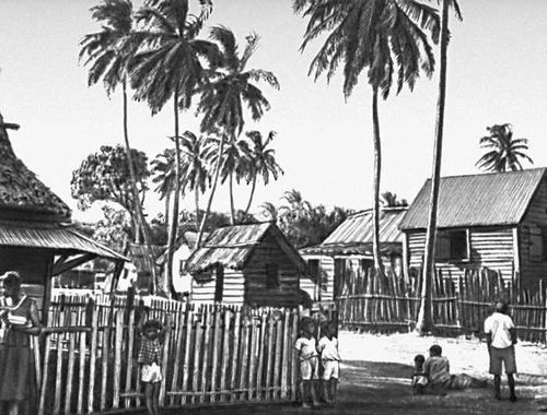 Деревня на восточном побережье Никарагуа. Никарагуа (государство в Центр. Америке).
