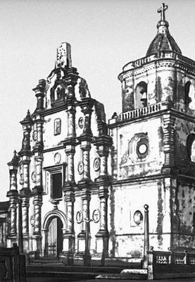 Церковь Ла Реколексьон в Леоне. Окончена в 1795. Никарагуа (государство в Центр. Америке).