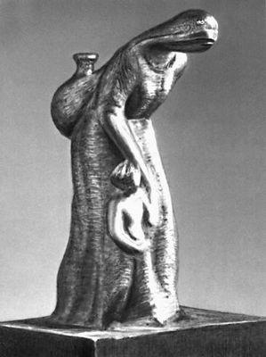 Х. Амадор Лира. «Женщина с ребёнком». Красное дерево. 20 в. Никарагуа (государство в Центр. Америке).