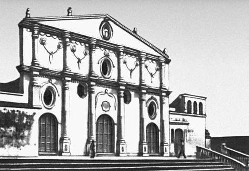Фасад церкви Сан-Франсиско в Гранаде. 1862. Никарагуа (государство в Центр. Америке).