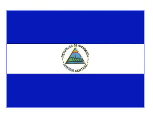 Флаг государственный. Никарагуа. Никарагуа (государство в Центр. Америке).